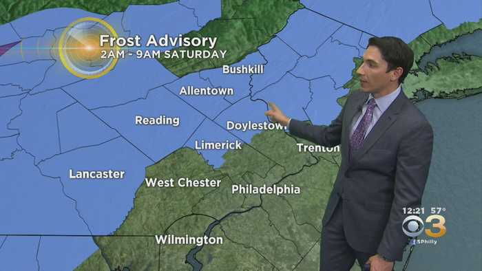 Midday Weather Update: Frost Advisory Tonight