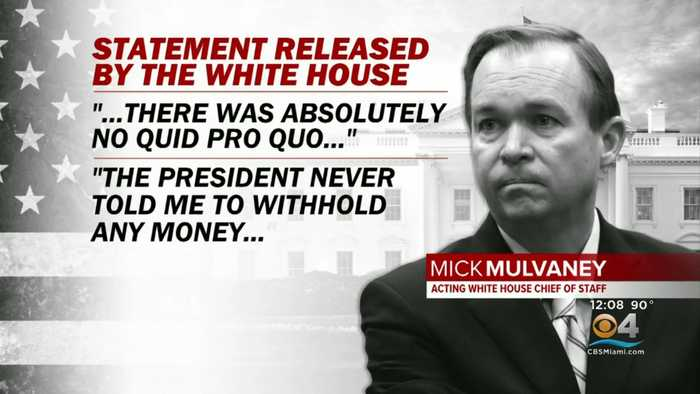 White House In Damage Ccontrol Mode After Mulvaney Comments