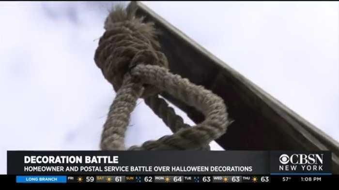 Homeowner, Postal Service Battle Over Halloween Decorations