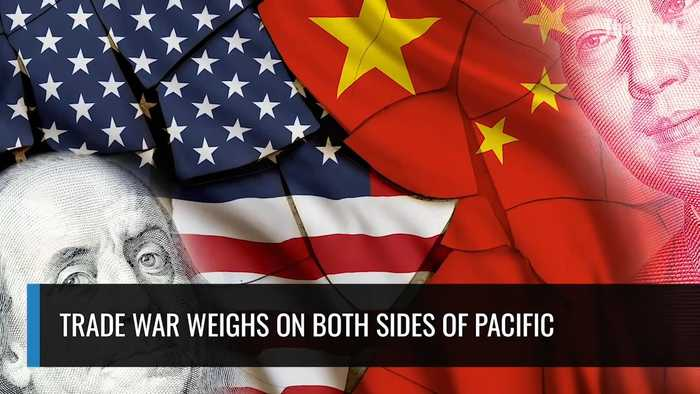 Trade War Weighs On Both Sides Of Pacific