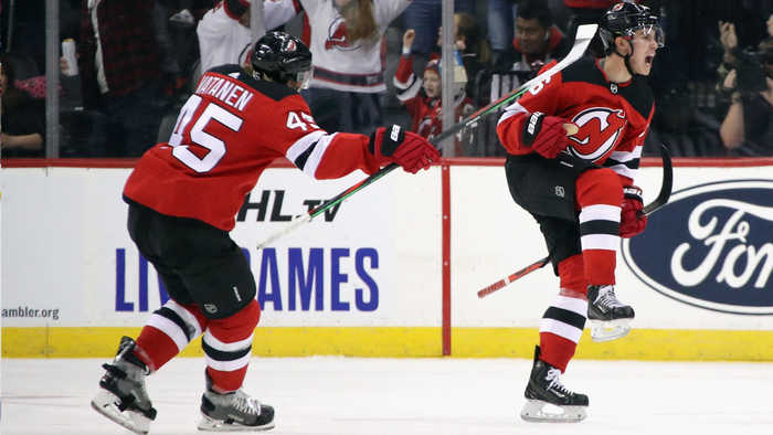 Jack Hughes buries first career NHL goal
