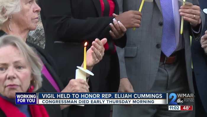 Vigil held to honor Rep. Elijah Cummings on Friday