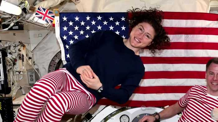 U.S. astronauts soar in first all-female spacewalk