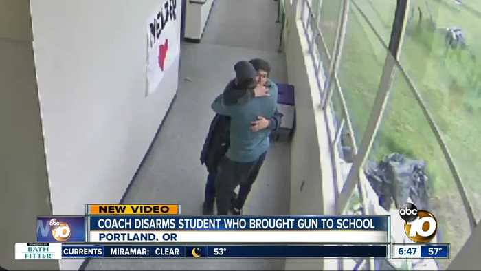 Portland coach disarms student who brought gun to school