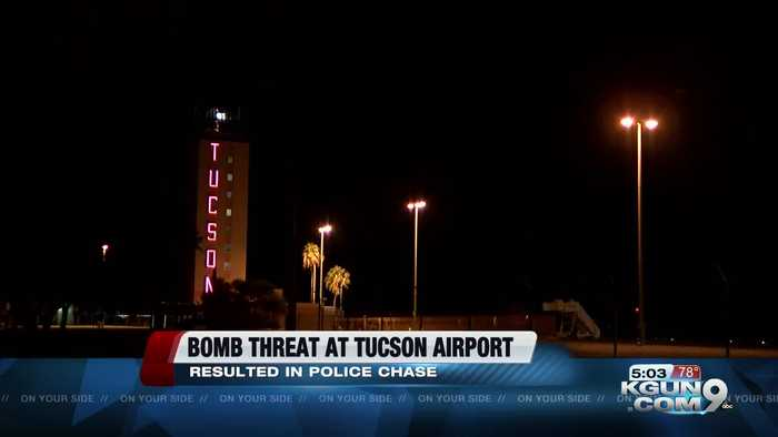 Man claims to have bomb in his car after driving onto Tucson International Airport airfield
