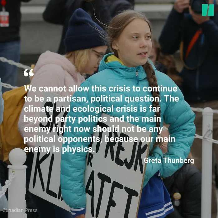 Greta Thunberg Marches In Edmonton