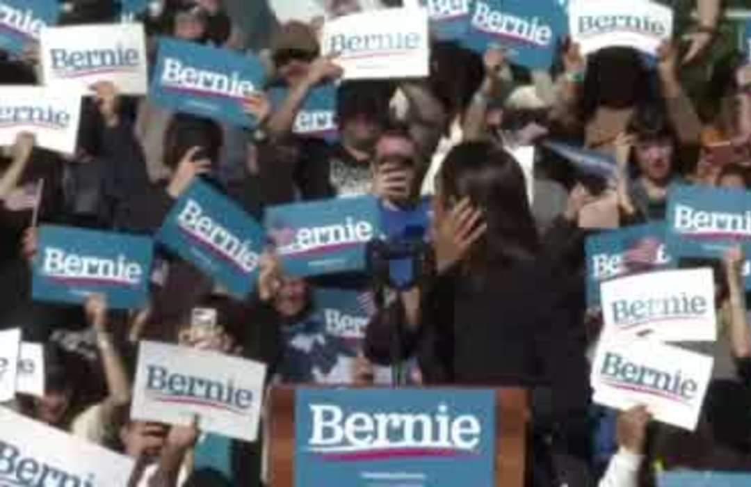 AOC endorses Bernie Sanders at NYC rally