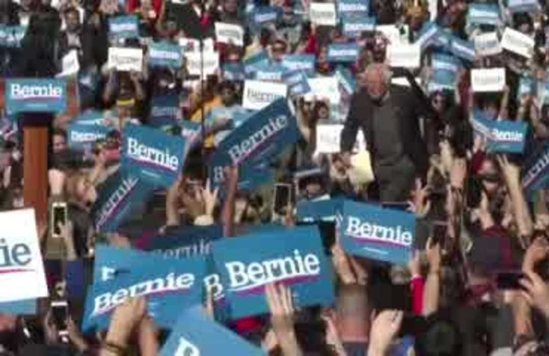 'I am back!': Bernie Sanders tells crowd after heart attack