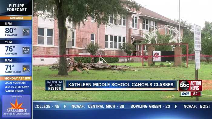 Tornado damages Kathleen Middle School leading to school cancellations