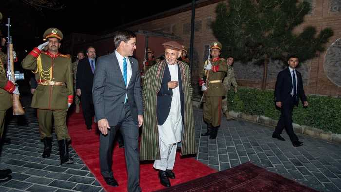 U.S. Defense Secretary Visits Afghanistan To Restart Peace Talks