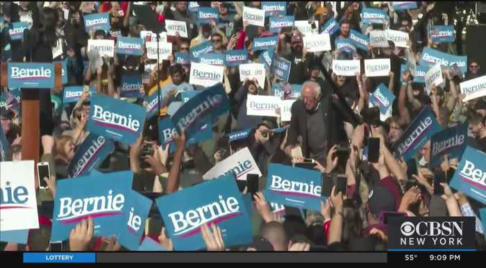Bernie Sanders Holds Packed Rally In Queens