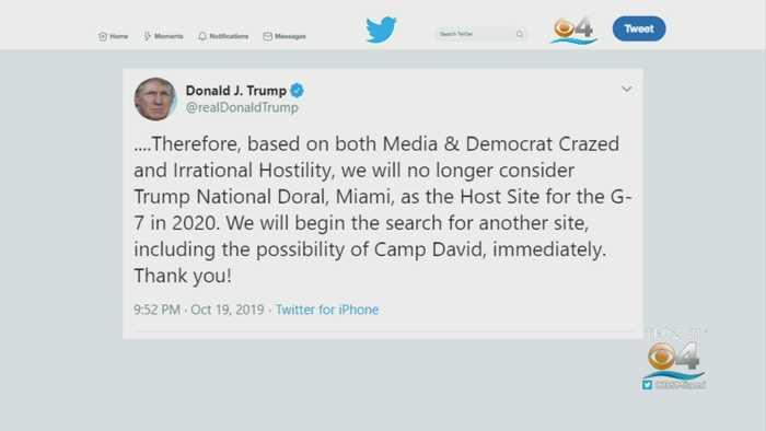 Trump Reverses Decision On G7 Summit At Doral