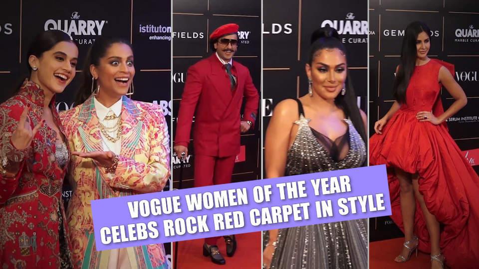 Vogue Women of the Year   Ranveer, Katrina stun on red carpet; Huda Kattan, Kunal Nayyar join