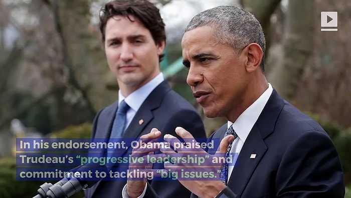 Barack Obama Endorses Justin Trudeau for Re-Election