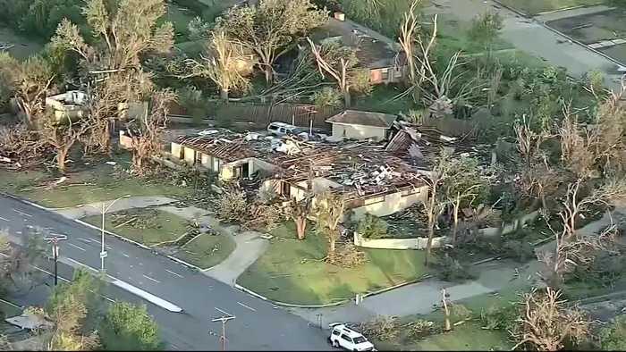 Homes destroyed after Dallas tornado