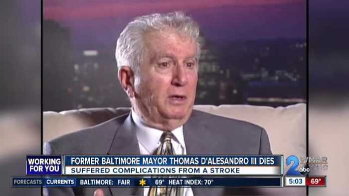 Former Baltimore mayor Thomas D'Alesandro III dies