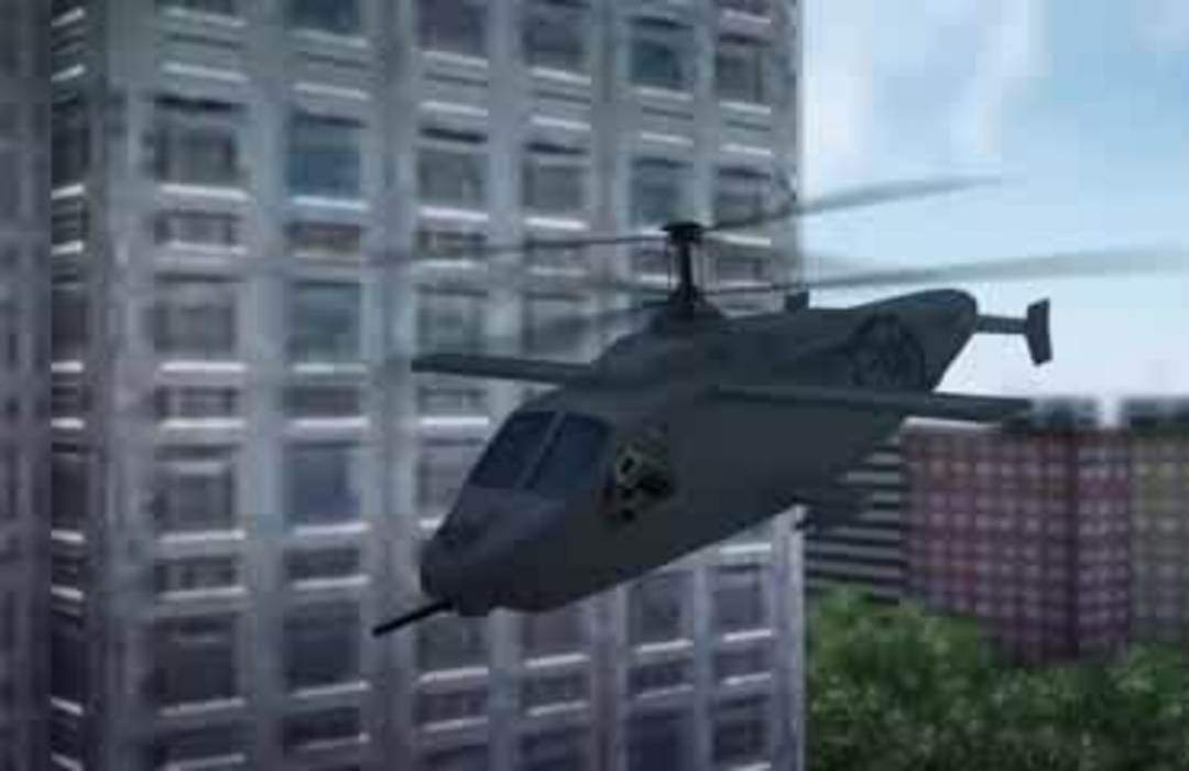 Prototype for U.S. Army's future reconnaissance helicopter features side-by-side cockpit and a wing