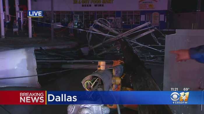 Police Searching Door To Door For Survivors; Watching For Looters After Dallas Tornado