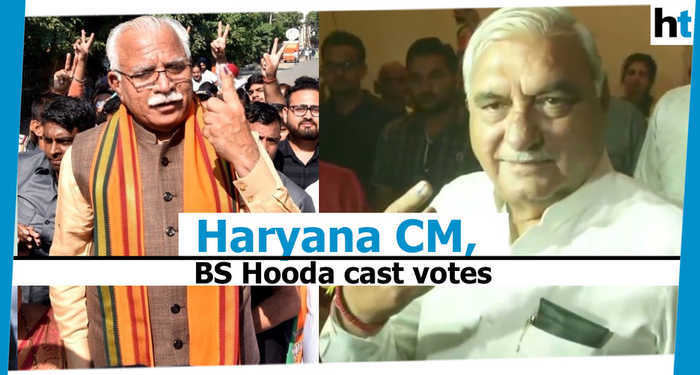 Haryana polls: CM Khattar, Bhupinder Singh Hooda, others cast their vote