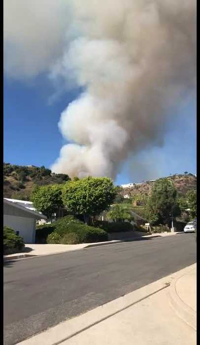 Southern California brushfire forces evacuations from multimillion dollar homes