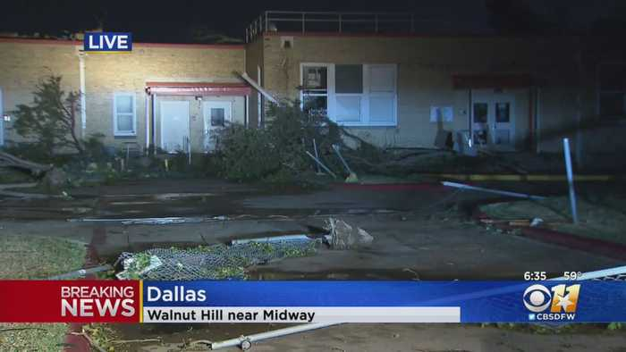 Significant Storm Damage At Walnut Hill Elementary