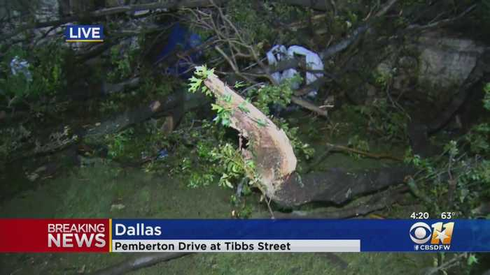 Storm Damage In Preston Hollow Area Of Dallas