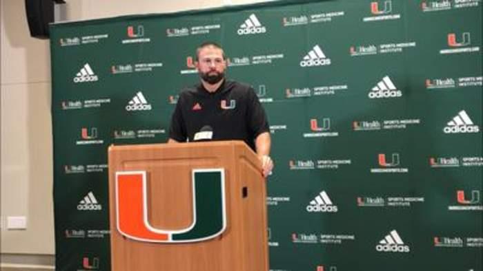 Miami DC Blake Baker on the Hurricanes' tackling struggles
