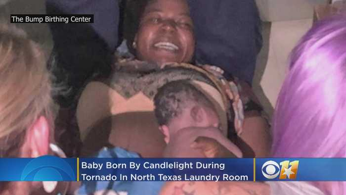 Baby Girl Born By Candlelight In Laundry Room Amid North Texas Tornado