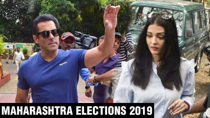 Salman Khan, Aishwarya Rai, Abhishek, Arjun Kapoor TOGETHER Cast Vote | Maharashtra Elections 2019