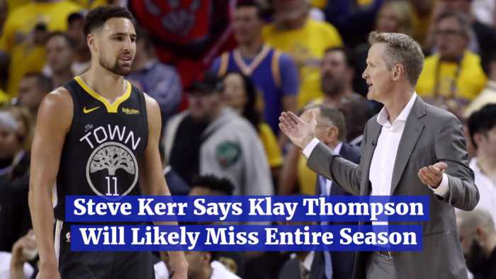 Klay Thompson  Is Out Of The Game For Awhile