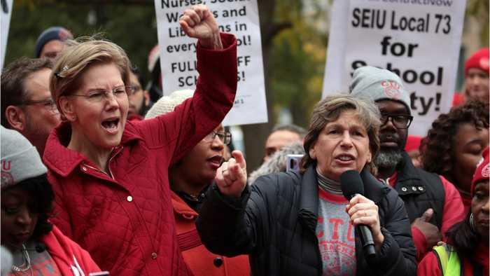 Elizabeth Warren Joins Chicago Teachers To Demand Better Resources