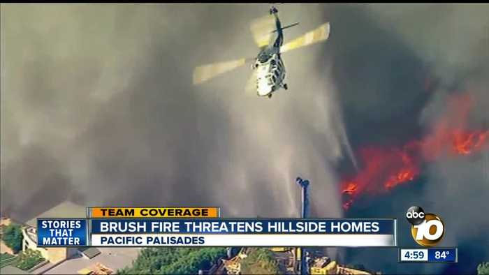 Fire spreads rapidly in Pacific Palisades
