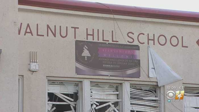 Walnut Hill Elementary Expected To Be A Total Loss Following Damage Caused By Dallas Tornado