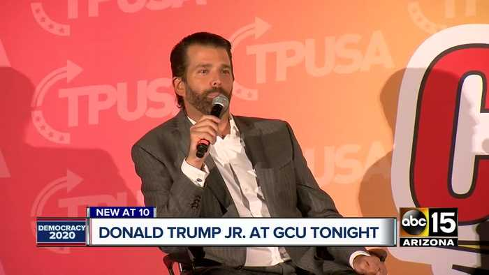 Donald Trump Jr. visits Grand Canyon University for event