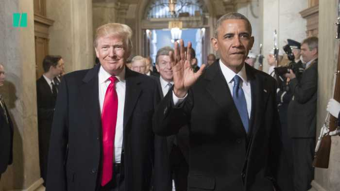 Trump Disparages Obama