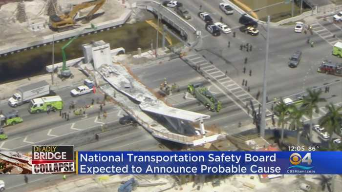 NTSB Holds Meeting On Florida International University Pedestrian Bridge Collapse