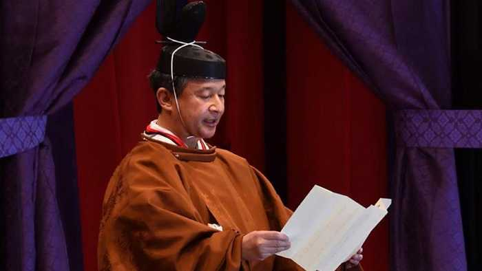 Japan's Naruhito proclaims enthronement in centuries-old ceremony