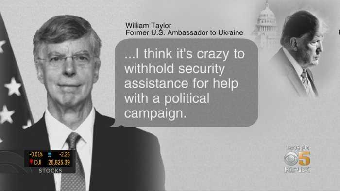 Former U.S. Diplomat In Ukraine Testifies In Impeachment Inquiry