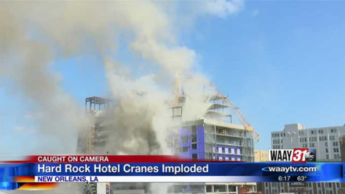 Hard Rock Hotel Cranes Implode