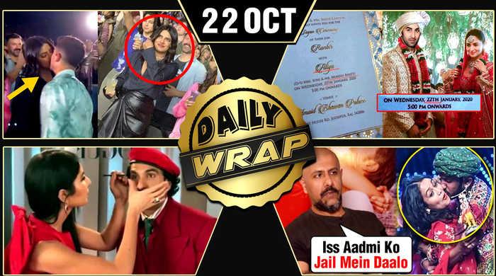 Priyanka Nick KISS PDA, Ranbir Alia Wedding Card, Katrina Applies Makeup On Ranveer   Top 10 News