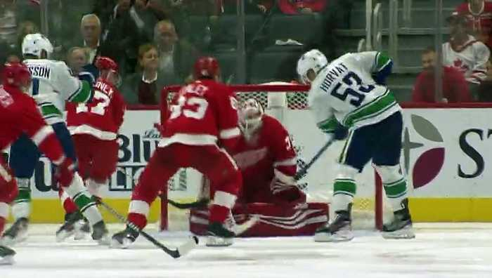 Bo Horvat records his first career hat trick