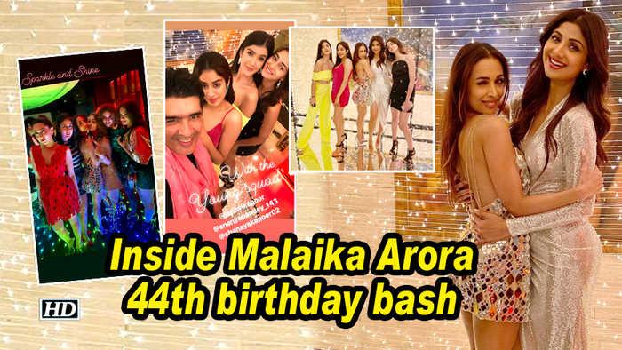 Inside Malaika Arora 44th birthday bash | Kareena Kapoor, Janhvi Kapoor attend