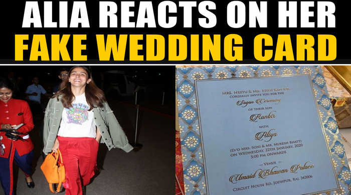 Alia reacts to the paparazzi on news of her fake wedding card, video goes viral | OneIndia News
