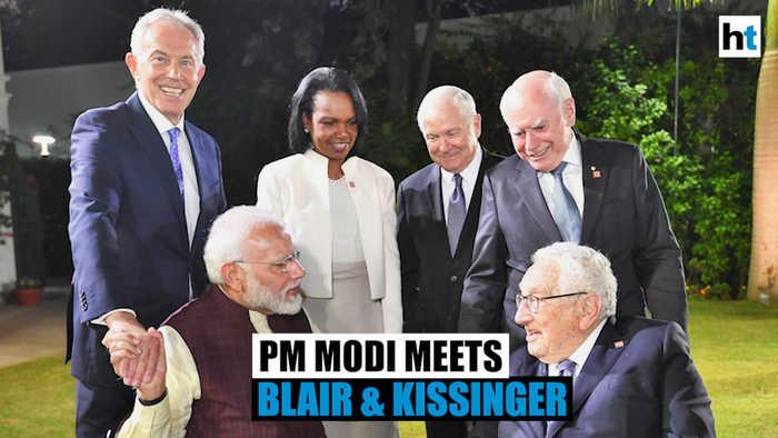 PM Modi discusses $5 trillion economy plan with Tony Blair, Henry Kissinger