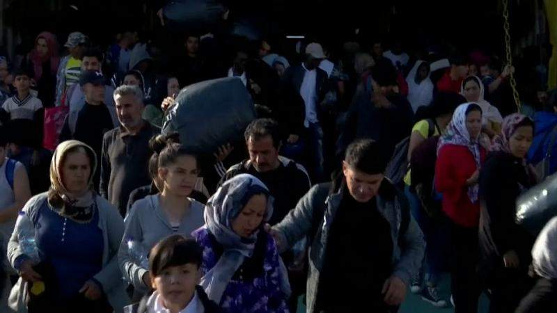 Migrants from overcrowded Greek Island camps transferred to country's mainland