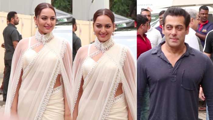 Salman Khan's ROCKING GRAND ENTRY With Sonakshi Sinha and Saiee At Babangg 3 Trailer Launch