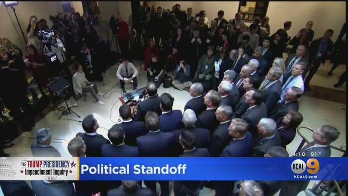 Republicans Storm Closed-Door Impeachment Hearing As Political Standoff Continues