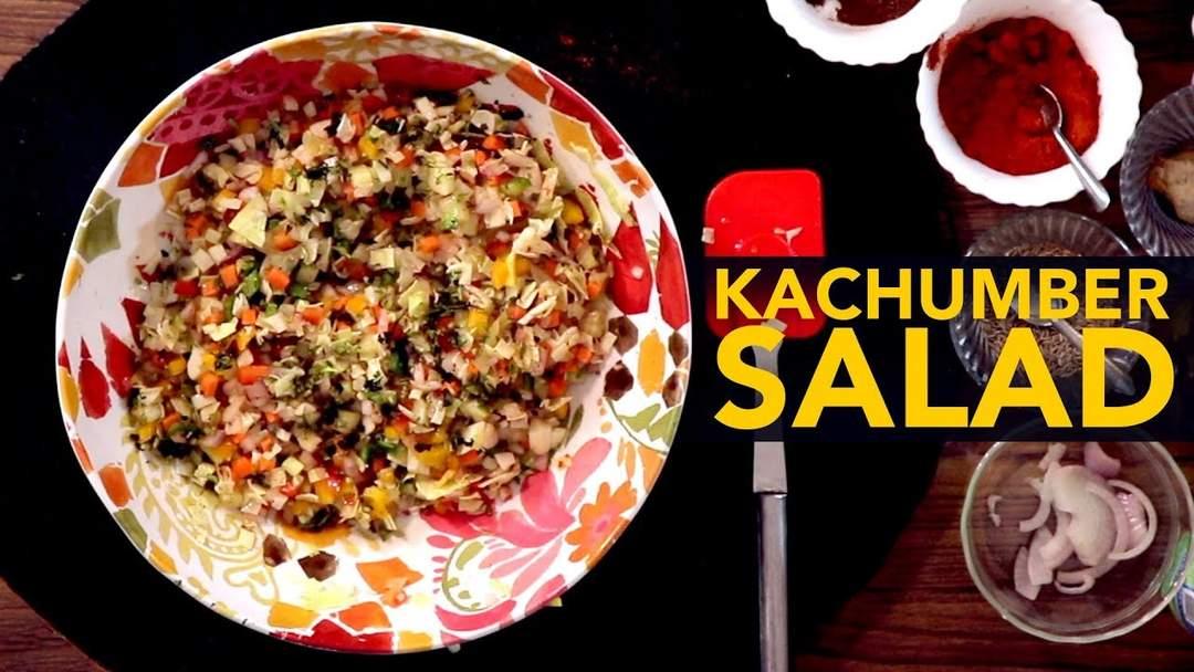 Kachumber Salad   Punjabi Food Recipes   5 Minute Recipes