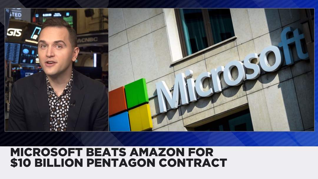 Microsoft Beats Amazon Winning $10 Billion Pentagon Contract