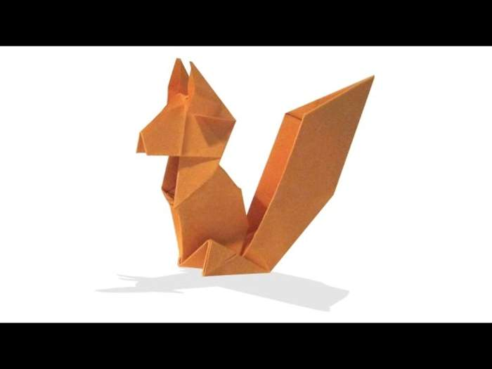 Origami squirrel icon flat style Royalty Free Vector Image | 525x700